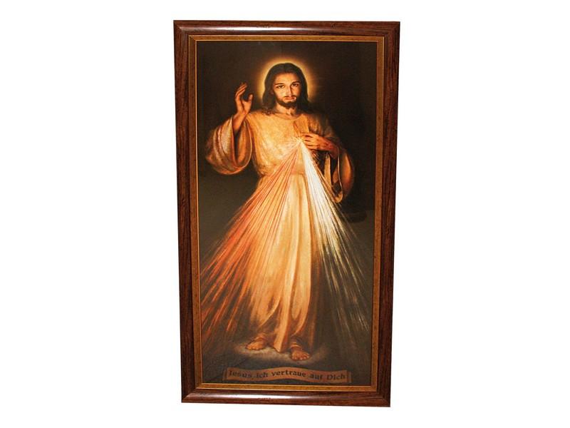 Bild \'Jesus ich vertraue...\'/Glas m. Rahmen, 49 x 98 cm, Sakrale ...